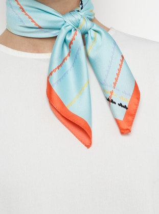 Turquoise - Printed - Shawl - Daisy Accessory