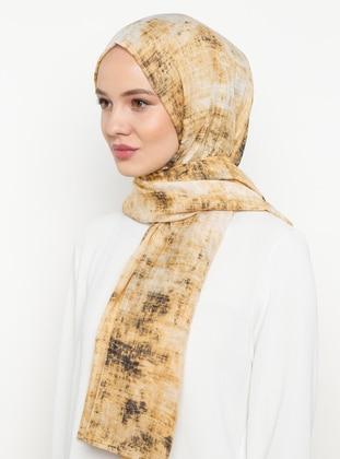 Yellow - Printed - Shawl