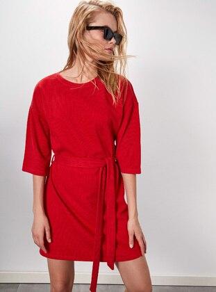 Printed - Red - Dress