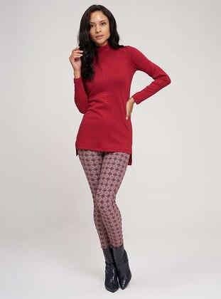 Red - Acrylic -  - Pants