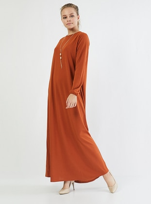Terra Cotta - Crew neck - Unlined - Cotton -  - Dress