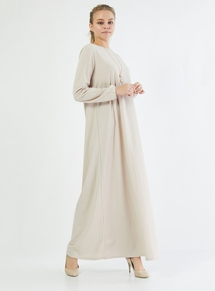 Stone - Crew neck - Unlined - Cotton -  - Dress
