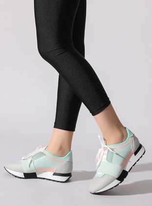 Gray - Turquoise - Sport - Sports Shoes