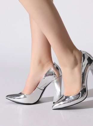 Lamé - High Heel - Shoes