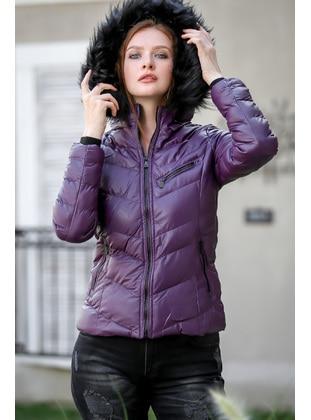 Purple - Puffer Jackets