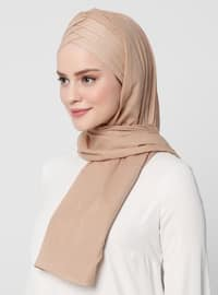 Mink - Plain - Cotton - Instant Scarf