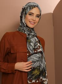 Multi - Printed - Cotton - Shawl -  Şal