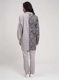 Gray - Multi - Point Collar - Acrylic -  - Blouses