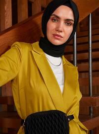 Yellow - Unlined - Shawl Collar -  - Jacket
