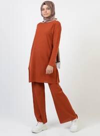 Terra Cotta - Unlined - Acrylic -  - Suit