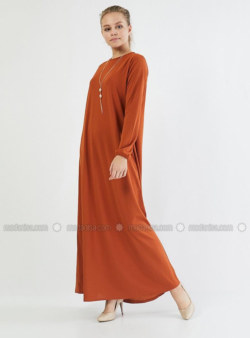 Terra Cotta - Crew neck - Unlined - Cotton -  - Dress