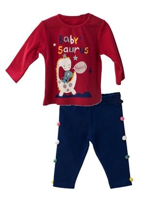 Crew neck -  - Unlined - Fuchsia - Baby Suit