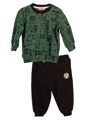 Multi - Crew neck -  - Unlined - Green - Baby Suit