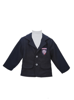 Navy Blue - Shawl Collar - baby jackets