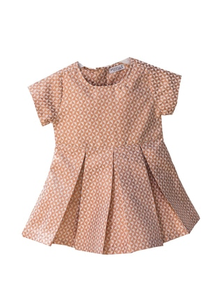 Multi - Crew neck - Unlined - Ecru - Baby Dress