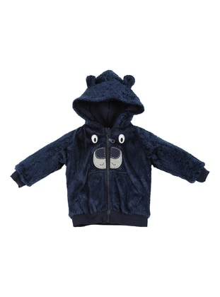 - Unlined - Navy Blue - Baby Cardigan