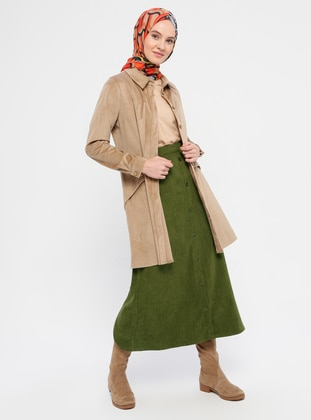Khaki - Unlined - Skirt