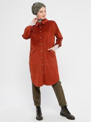 Terra Cotta - Unlined - Point Collar - Topcoat