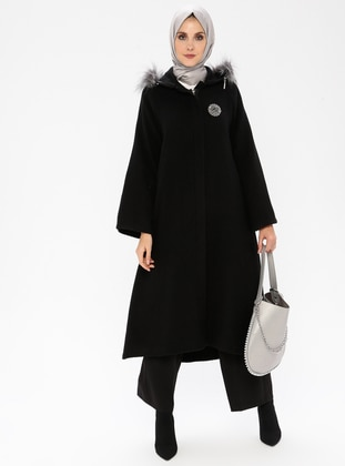 Black - Unlined - Coat - BÜRÜN