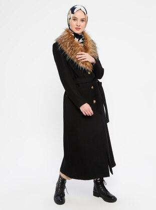 Black - Fully Lined - Shawl Collar - Coat