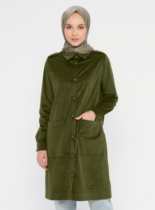 Khaki - Unlined - Point Collar - Jacket