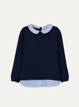Navy Blue - Girls` Pullovers - LC WAIKIKI