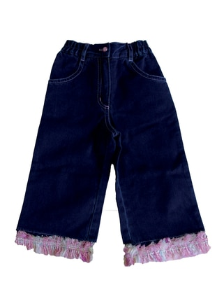 - Unlined - Blue - Girls` Pants - Zeyland