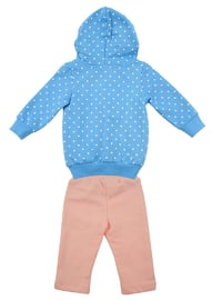 Polka Dot -  - Unlined - Blue - Baby Suit