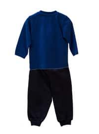 Crew neck -  - Unlined - Saxe - Baby Suit