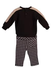 Checkered - Crew neck -  - Viscose - Unlined - Black - Baby Suit