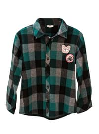 Multi - Green - Point Collar -  - Viscose - Unlined - baby shirts