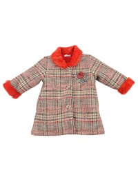 Multi - Round Collar -  - Unlined - Red - Baby Jacket