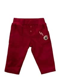 - Unlined - Maroon - Baby Pants