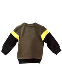 Crew neck -  - Unlined - Black - Baby Cardigan