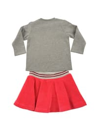 Crew neck -  - Unlined - Gray - Baby Suit