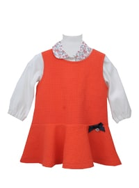 Crew neck - Viscose - Unlined - Coral - Baby Suit