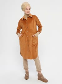 Camel - Unlined - Point Collar - Topcoat