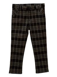 Checkered -  - Viscose - Unlined - Khaki - Boys` Pants