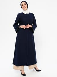 Navy Blue - Unlined -  - Coat