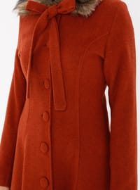 Terra Cotta - Fully Lined - Point Collar - Coat