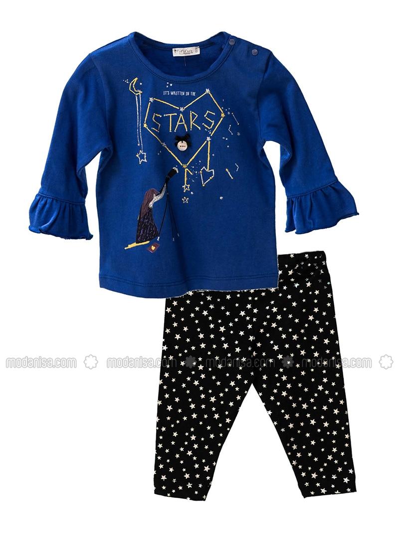Multi -  - Unlined - Blue - Black - Baby Suit