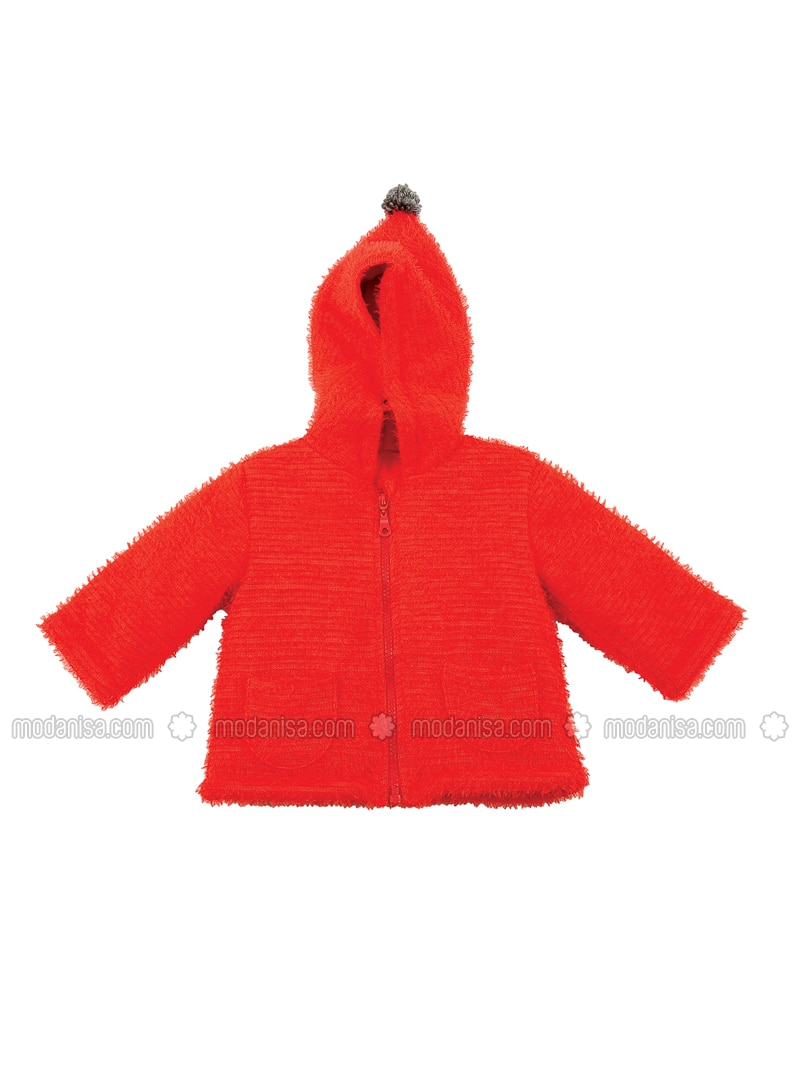 - Unlined - Red - Baby Cardigan