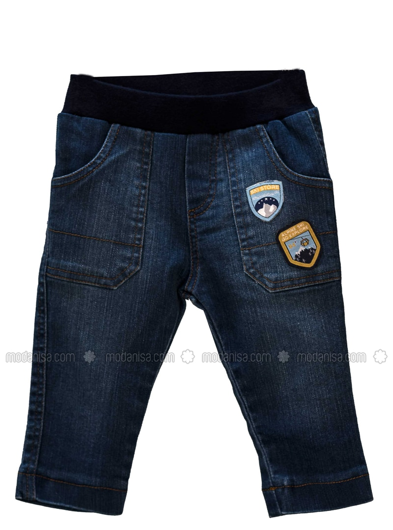 - Unlined - Navy Blue - Baby Pants