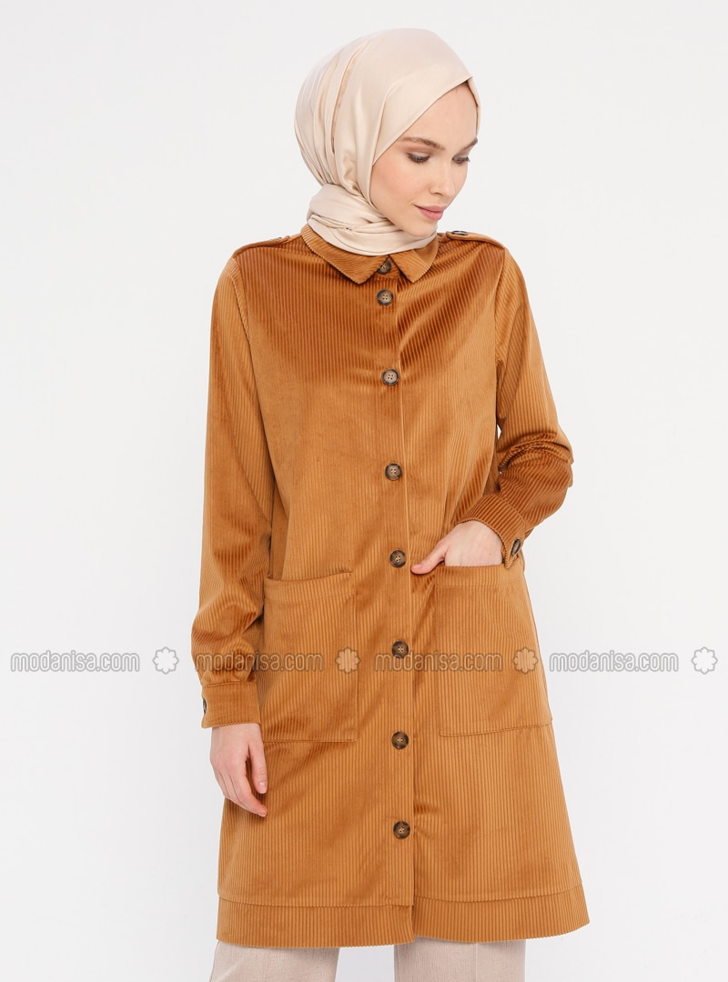 Camel - Unlined - Point Collar - Jacket