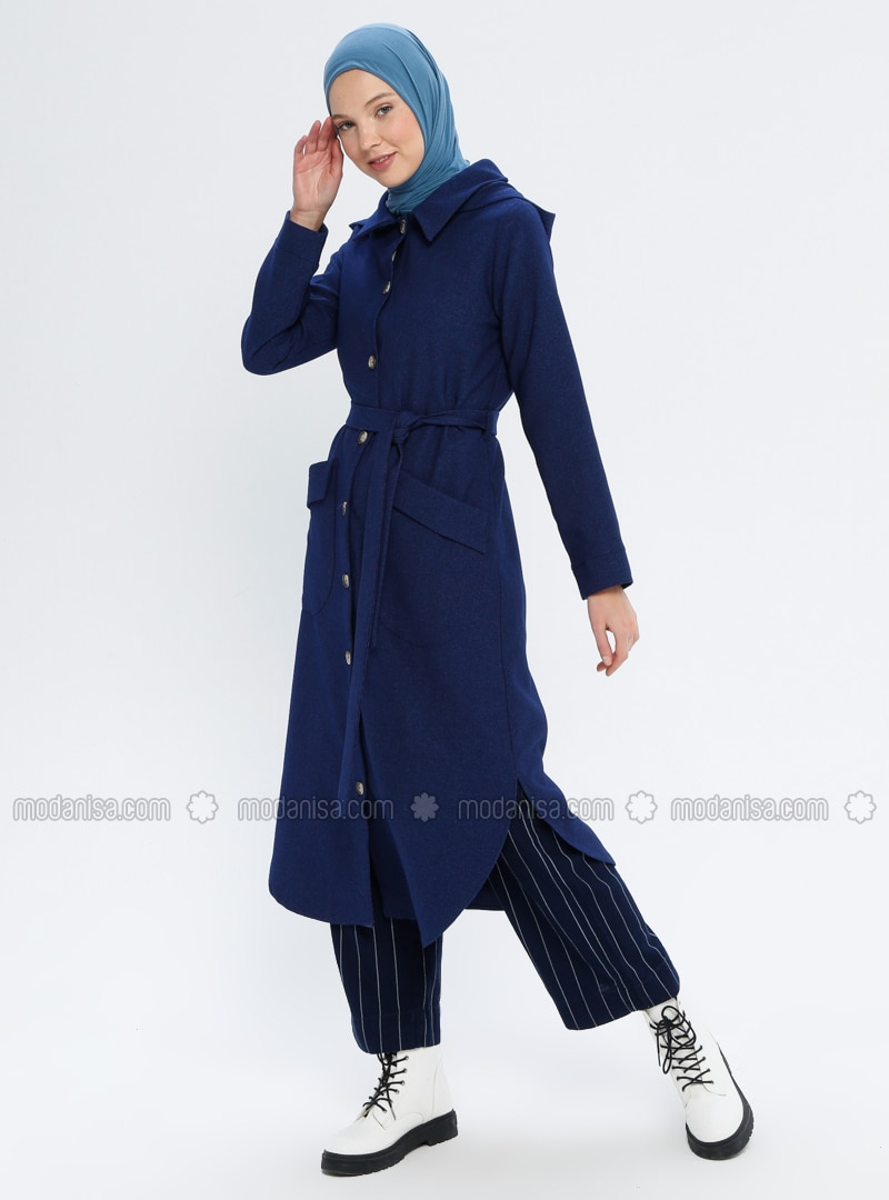 Indigo - Unlined - Point Collar - Topcoat