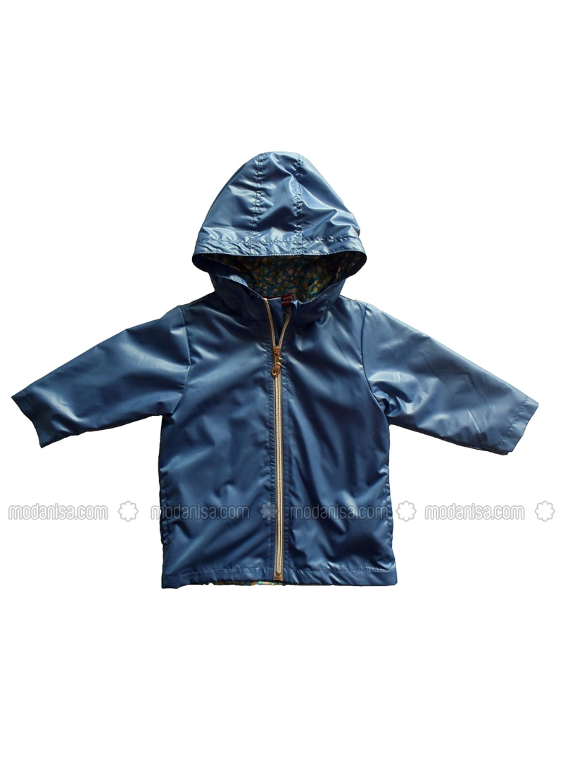 - Unlined - Blue - Girls` Raincoat