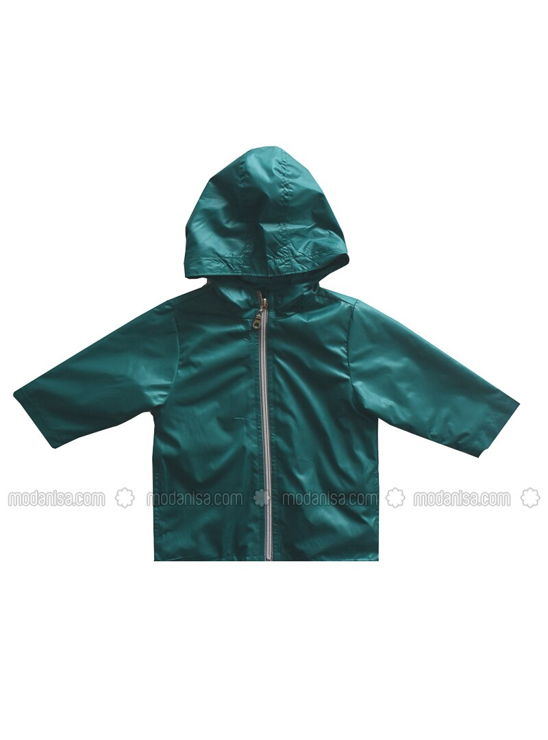 - Unlined - Green - Girls` Raincoat