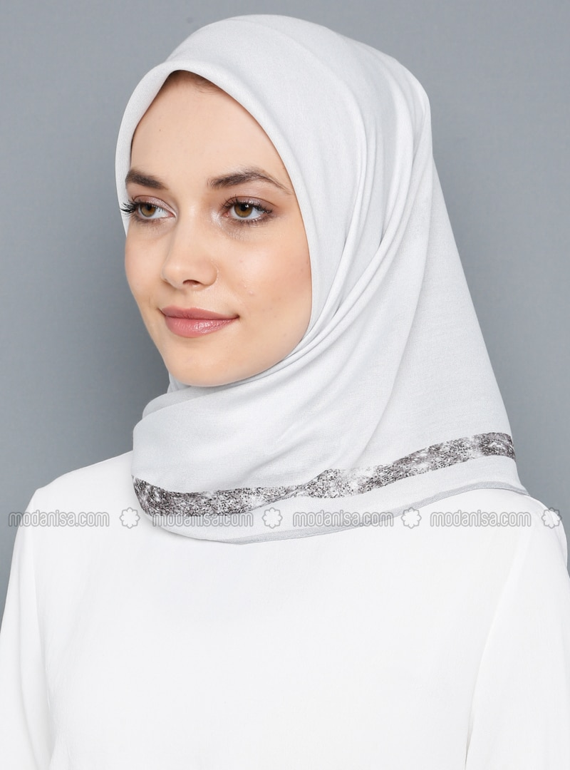 White - Plain - Scarf