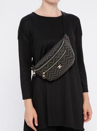 Khaki - Crossbody - Bum Bag