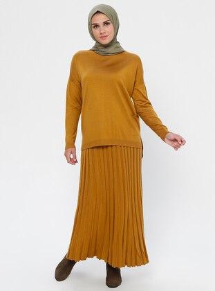 Mustard - Unlined - Viscose - Suit